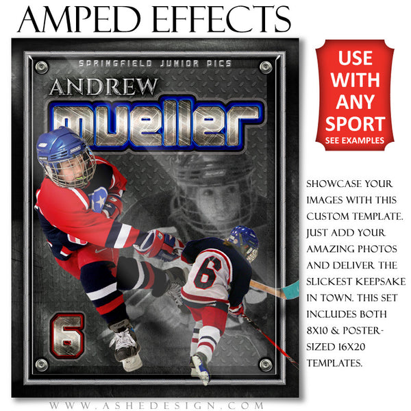 Ashe Design | Amped Effects Templates | On Display hockey