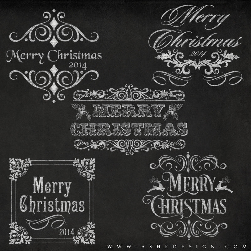 amped up photoshop word art templates chalkboard merry christmas