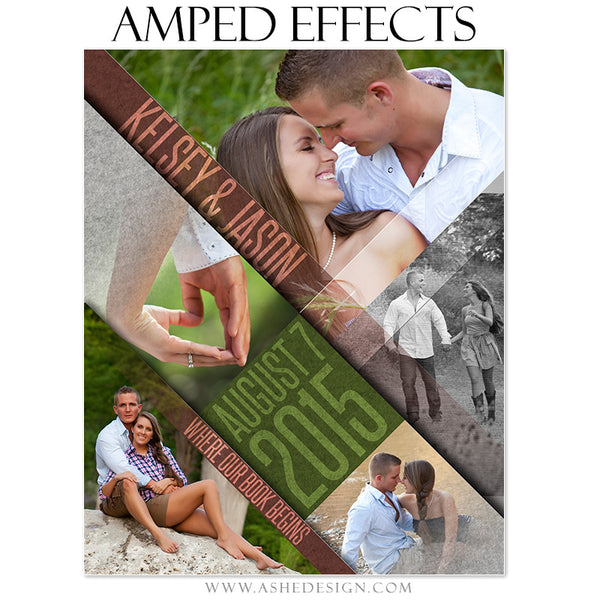 Ashe Design | Amped Effects Photography Templates | Angled engagement