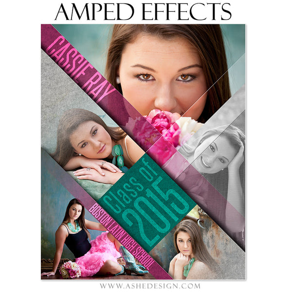Ashe Design | Amped Effects Photography Templates | Angled seniors