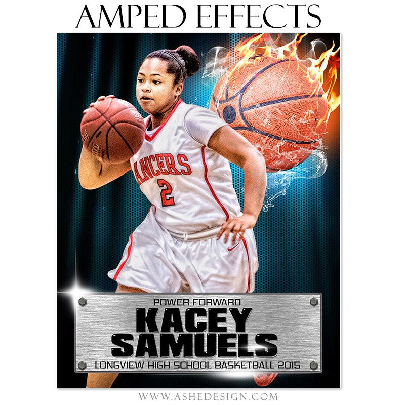 Ashe Design | Amped Effects Sports Templates | Fire Storm Basketball