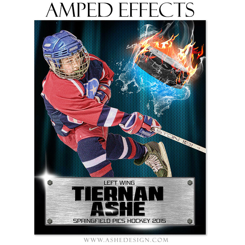 Ashe Design | Amped Effects Sports Templates | Fire Storm Hockey