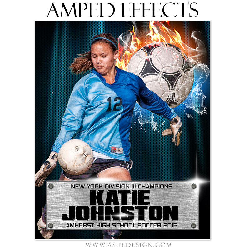Ashe Design | Amped Effects Sports Templates | Fire Storm Soccer