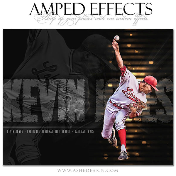 Ashe Design | Amped Effects Sports Templates | Rising Star baseball