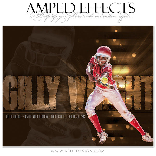 Ashe Design | Amped Effects Sports Templates | Rising Star softball