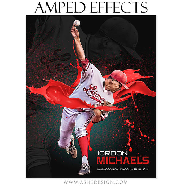 Ashe Design | Amped Effects Sports Templates | Paint Ball baseball