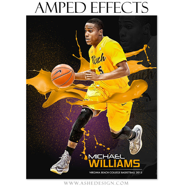 Ashe Design | Amped Effects Sports Templates | Paint Ball basketball