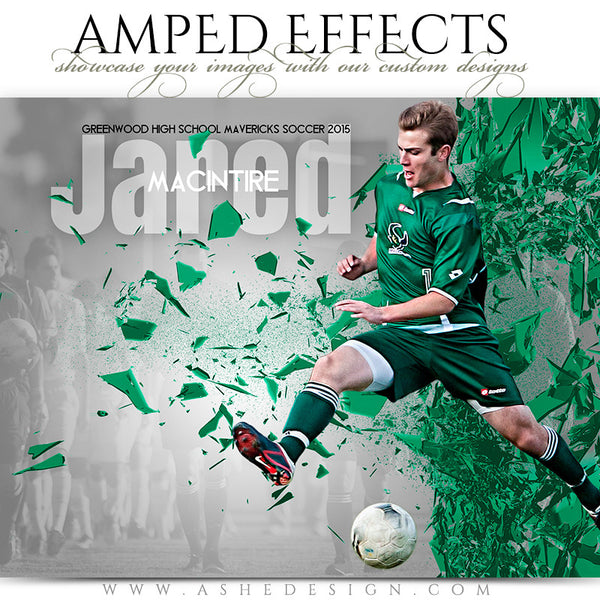 Ashe Design | Amped Effects Sports Templates | Shattered Wall soccer
