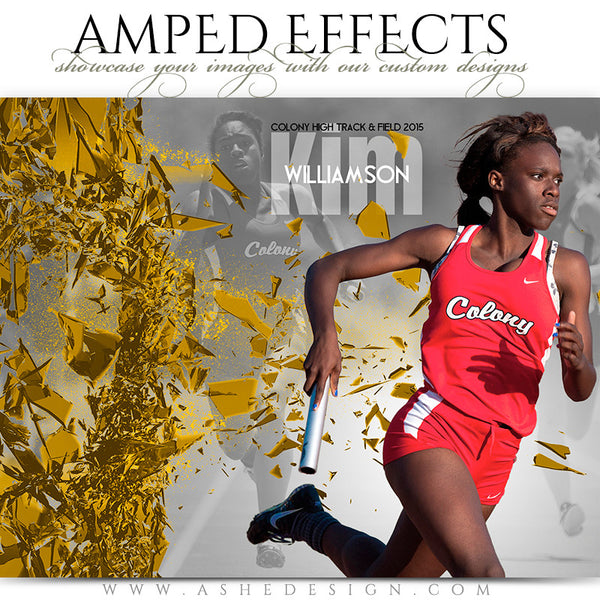 Ashe Design | Amped Effects Sports Templates | Shattered Wall track
