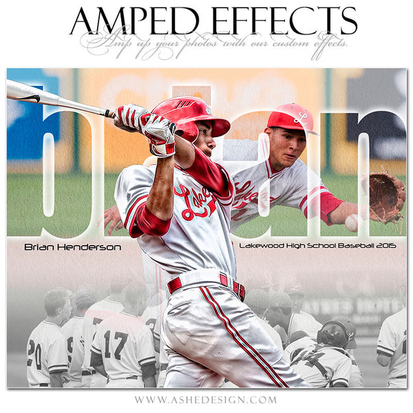Ashe Design | Amped Effects Sports Templates | Between The Lines baseball