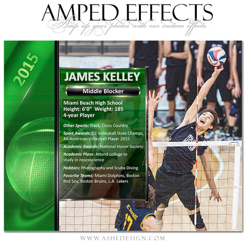 Amped Effects | Sports Segment Volleyball