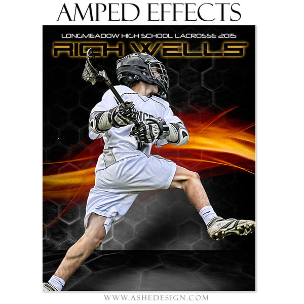 Ashe Design | Amped Effects Sports Templates | Straight Fire lacrosse