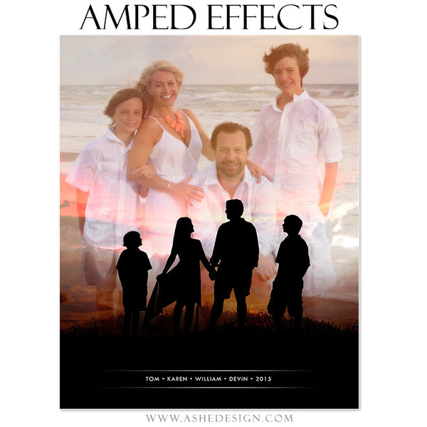 Ashe Design | Amped Effects Templates | Sunset Silhouette family