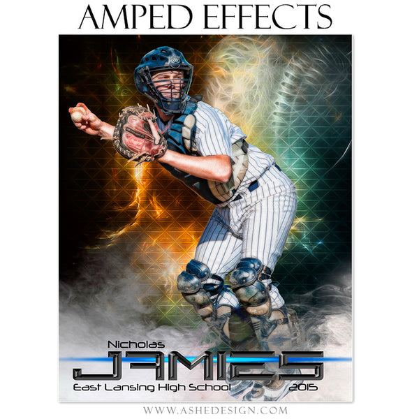 Baseball Amped Effects Sports Template