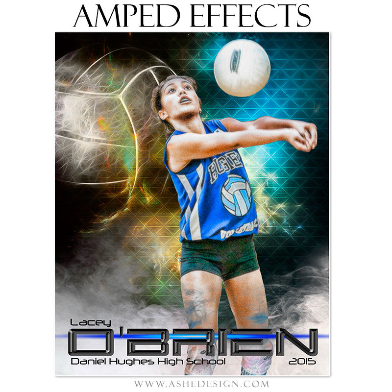 Ashe Design | Amped Effects Sports Templates | Winning Streak Volleyball