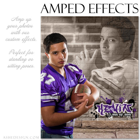 Ashe Design | Amped Effects Photography Templates | Brick Wall 1