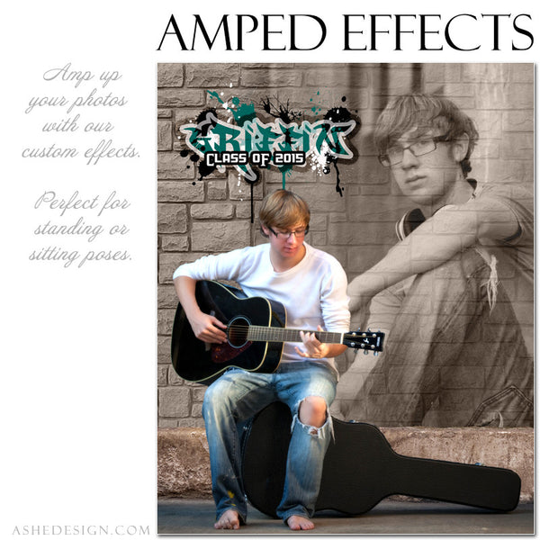 Ashe Design | Amped Effects Photography Templates | Brick Wall 2