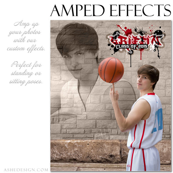 Ashe Design | Amped Effects Photography Templates | Brick Wall 3