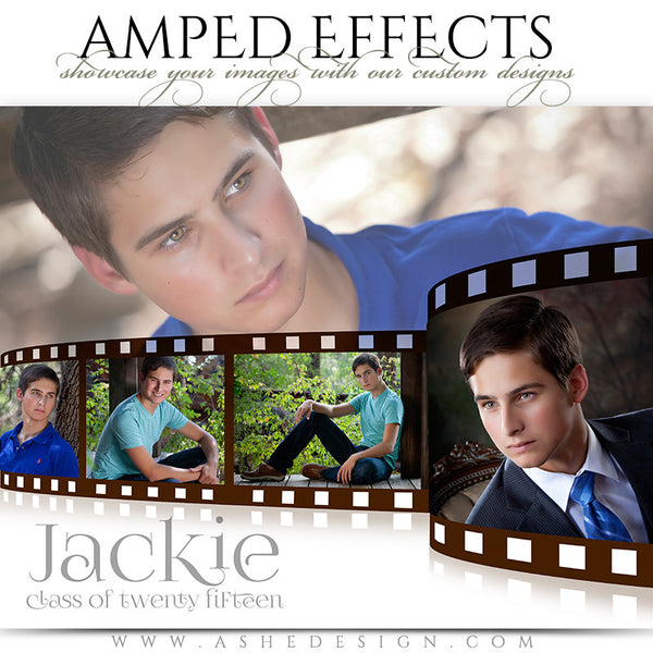 Ashe Design | Amped Effects Photography Templates | Film Strip sr boy