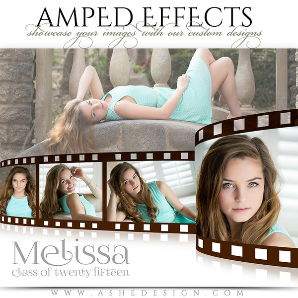Ashe Design | Amped Effects Photography Templates | Film Strip sr girl