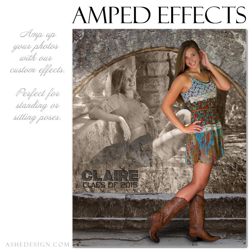 Ashe Design | Amped Effects Photography Templates | Rock Wall 1