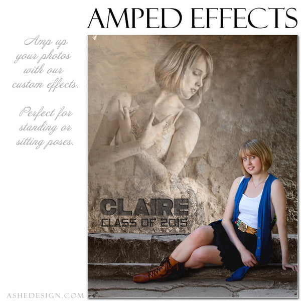 Ashe Design | Amped Effects Photography Templates | Rock Wall 3