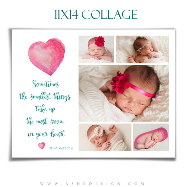 Ashe Design | Photoshop Templates | Collage 11x14 | The Smallest Things