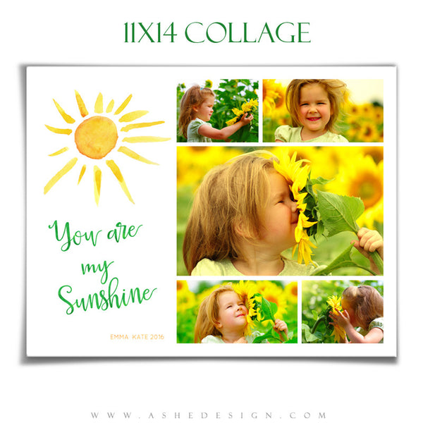 Ashe Design | Photoshop Templates | Collage 11x14 | You Are My Sunshine