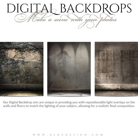 Ashe Design | Digital Backdrops | 16x20 | Concrete Grunge