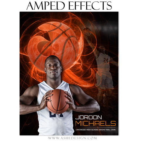 Ashe Design | Amped Effects | Sports Poster | Mystic Explosion Basketball