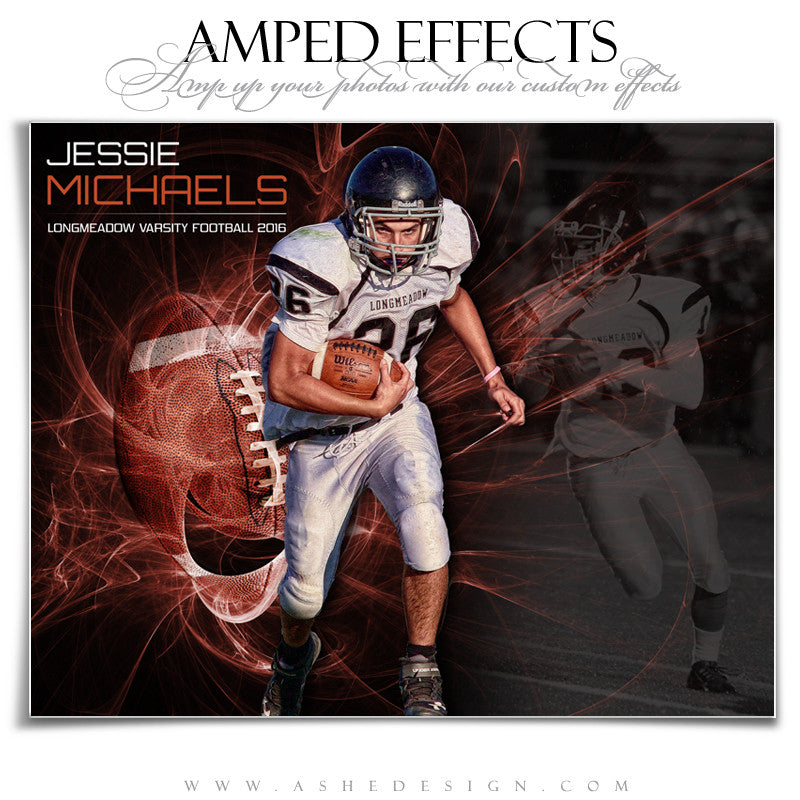 Ashe Design | Amped Effects | Sports Poster | Mystic Explosion Football
