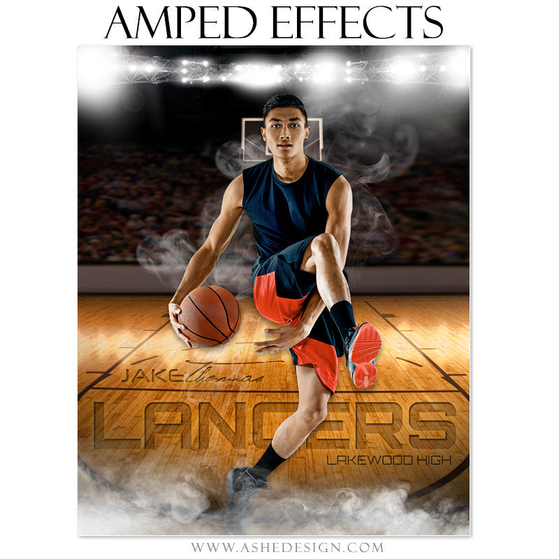 Ashe Design | Amped Effects | Photoshop Templates | Sports Poster16x20 | Home Court