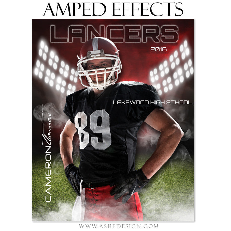 Ashe Design | Amped Effects | Photoshop Templates | Sports Posters | Home Field
