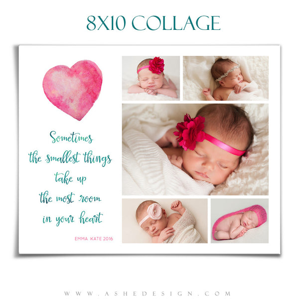Ashe Design | Photoshop Templates | Collage 8x10 | The Smallest Things