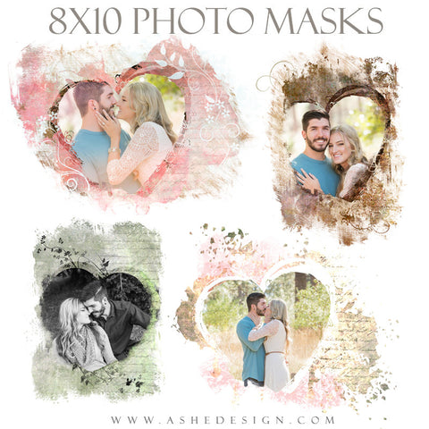 Ashe Design | Photoshop Templates | 8x10 Photo Masks | Heart To Heart