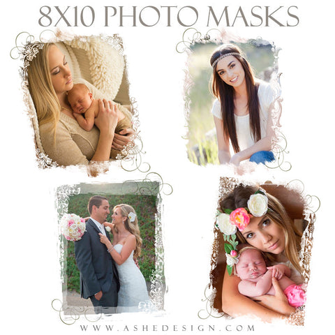 Ashe Design | Photoshop Templates | 8x10 Photo Masks | New Beginnings