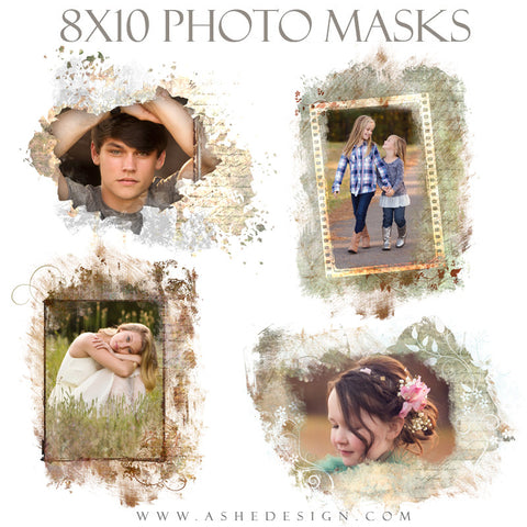 Ashe Design | Photoshop Templates | 8x10 Photo Masks