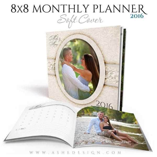 Ashe Design | Photo Book Soft Cover 8x8 | Monthly Planner Set | I Do 2016 cover