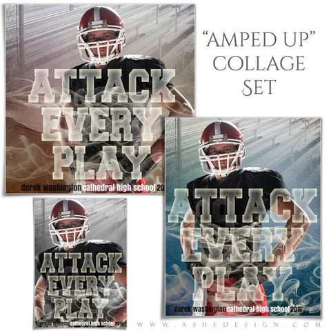 Ashe Design | Amped Sports Collages | Attack Every Play