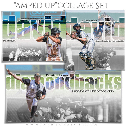 Ashe Design | Amped Sports Collages | Between The Lines