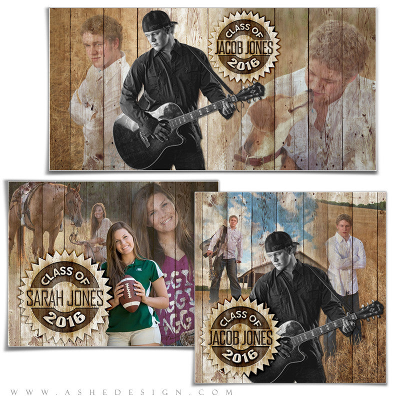 Ashe Design | Amped Senior Collages | Branded