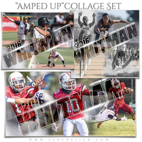 Ashe Design | Amped Sports Collages | Scratched Surface