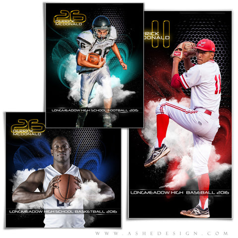Ashe Design | Amped Sports Collages | Screen Play