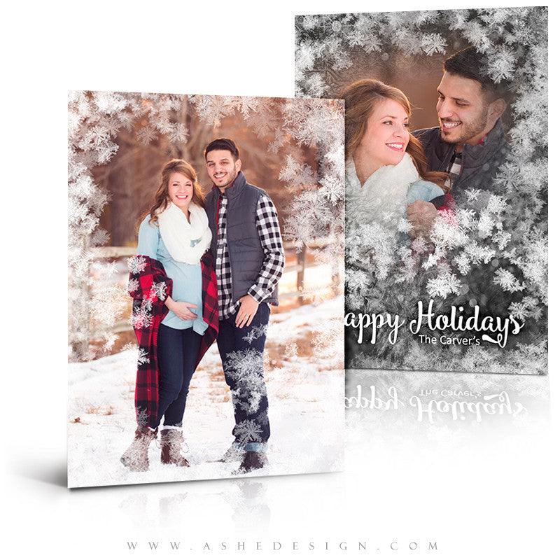 Christmas Card 5x7 Flat | Frosted Flakes 3D
