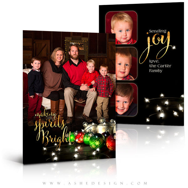 Christmas Card 5x7 Flat | Making Spirits Bright