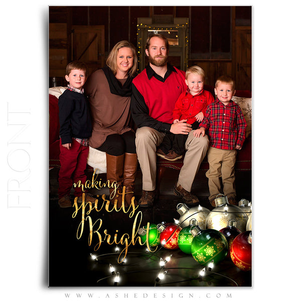 Christmas Card 5x7 Flat | Making Spirits Bright front