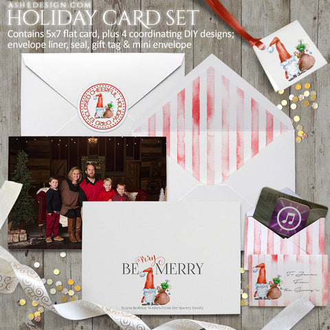 Watercolor Holiday Card Set | Be Very Merry