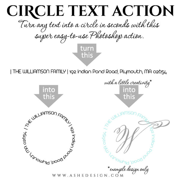 Photoshop Action | Circle Text2