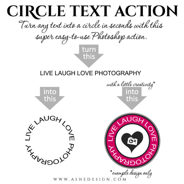Photoshop Action | Circle Text