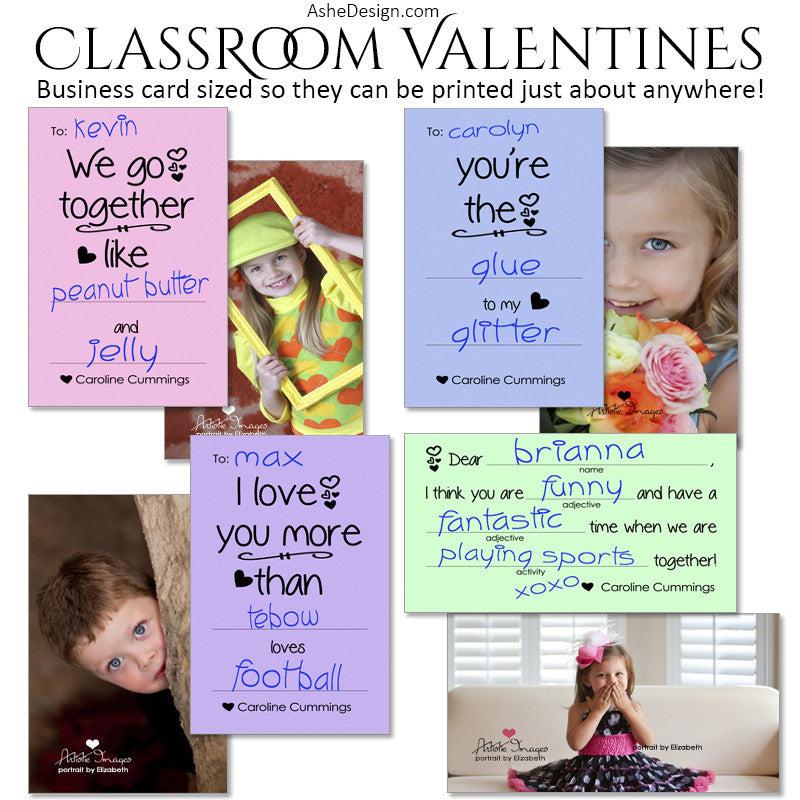 Ashe Design | Classroom Valentines | Fill In The Blank